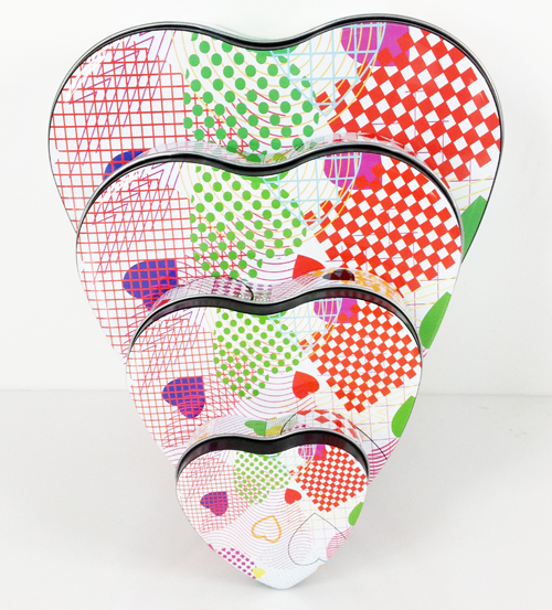 heart gift tin boxes