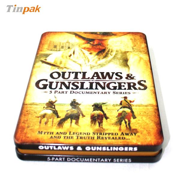 premium double cover DVD tin cases
