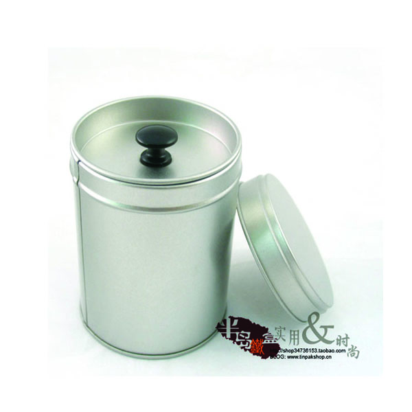 premium small metal plain tea container