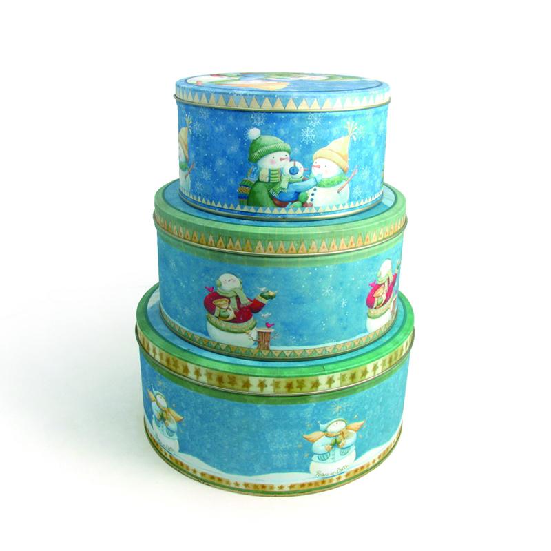 Set of Round Cake Tin Box