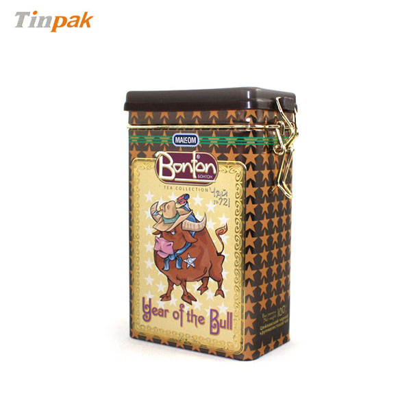 printed rectangular coffee tin boxes