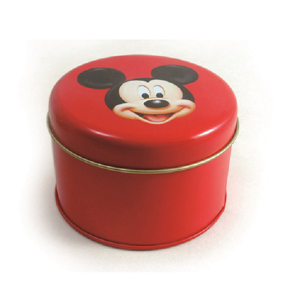 round metal chocolate tins
