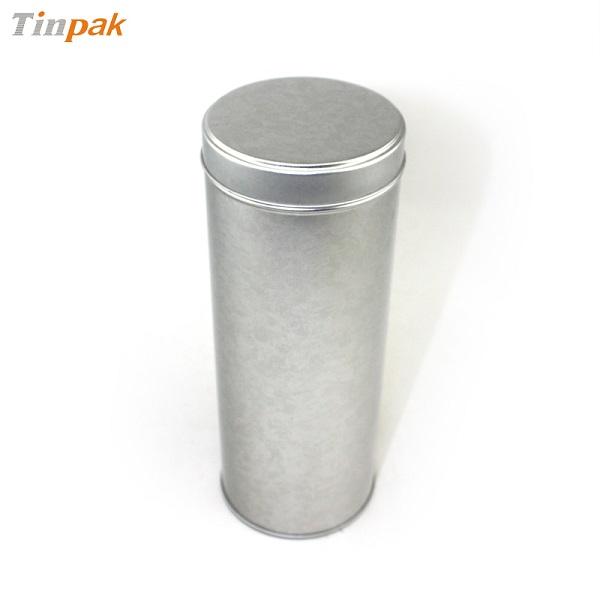 vintage round tea tin