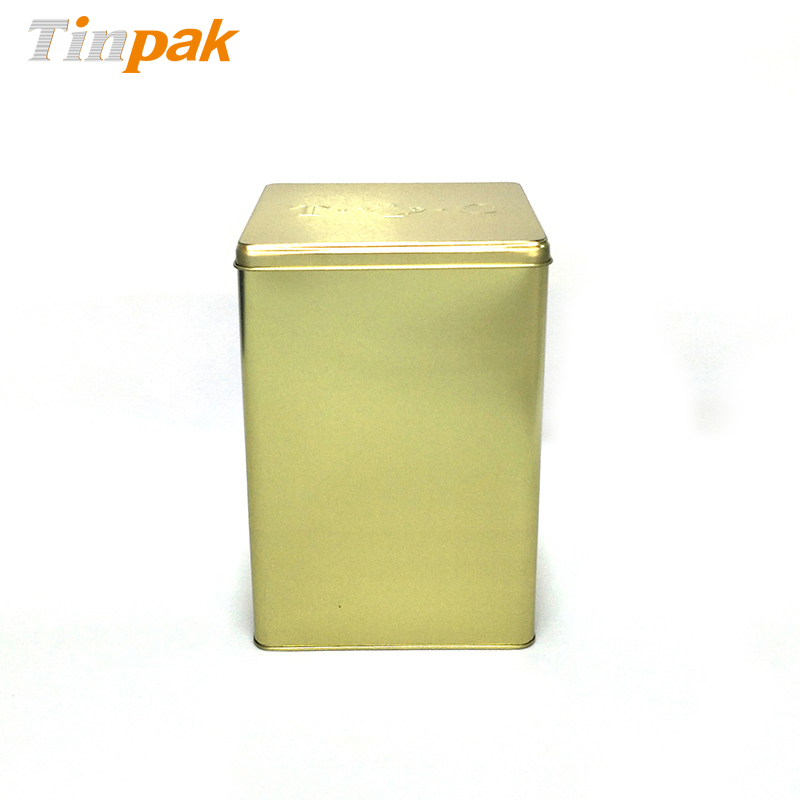 Large food grade square tea tin boxes supplier