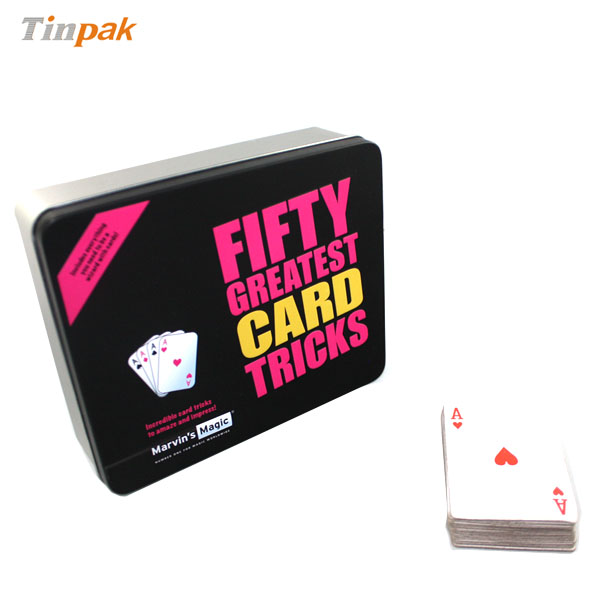 high quality rectangular tin box for cards
