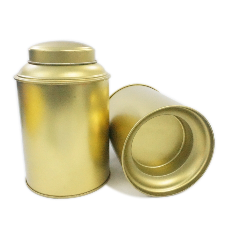 Stackable Round Tea Tin Container