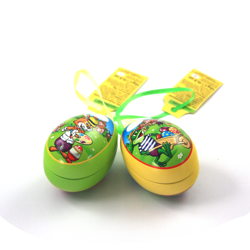 small Easter egg tin