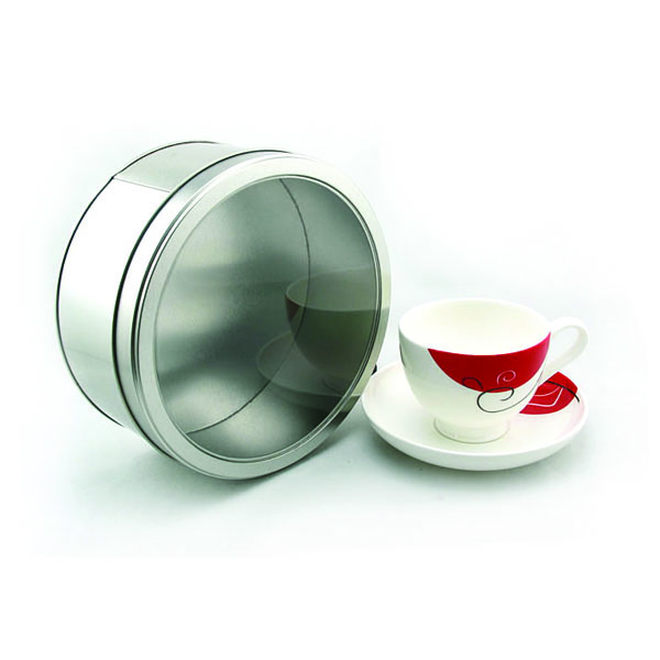 Round Cake Tin with Clear Window