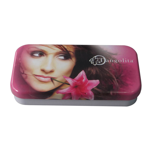 Eye shadow cosmetic tin box