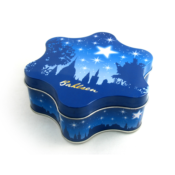 Star-shaped Christmas gift tin