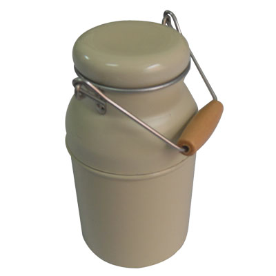 high quality milk shape tin box with handle