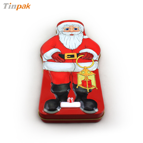 Christmas Santa chocolate tin box