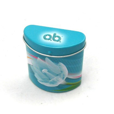 small irregular shape tin box for mints candies