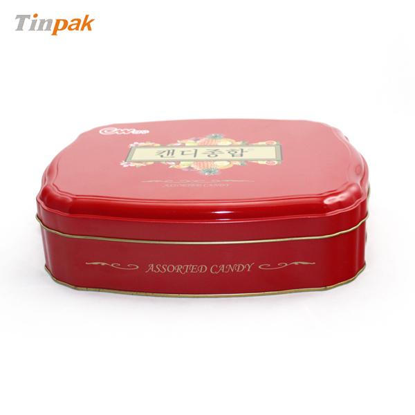 custom shaped candy tin box