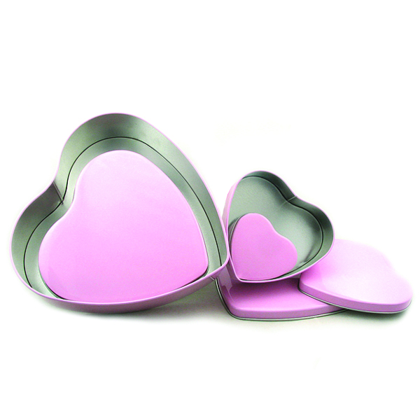 heart shape tin boxes for chocolates