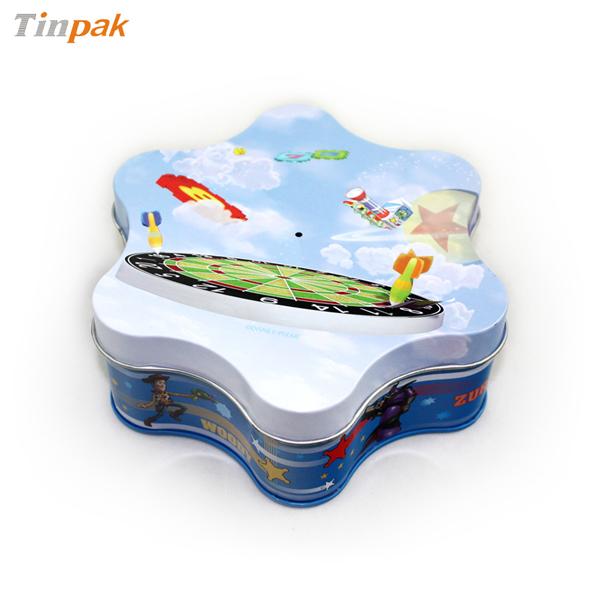 custom shaped gift tin box