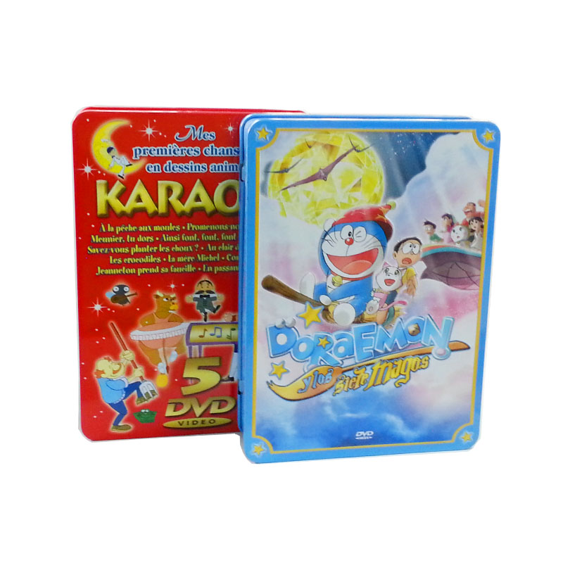 cartoon DVD tin cases