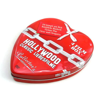Heart shape custom tin boxes with insert inside