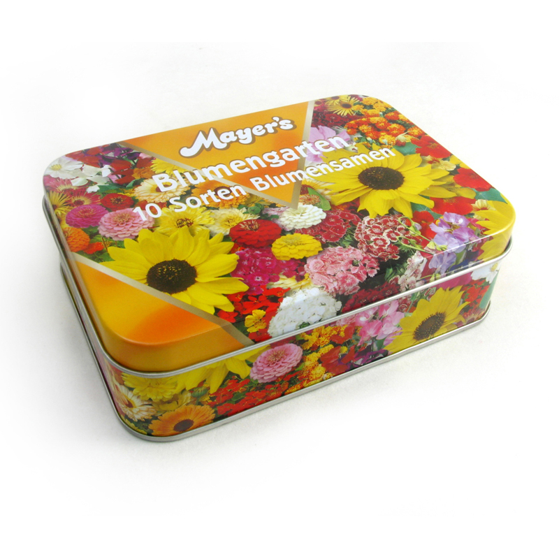 Rectangular Gift tin with Slip Lid