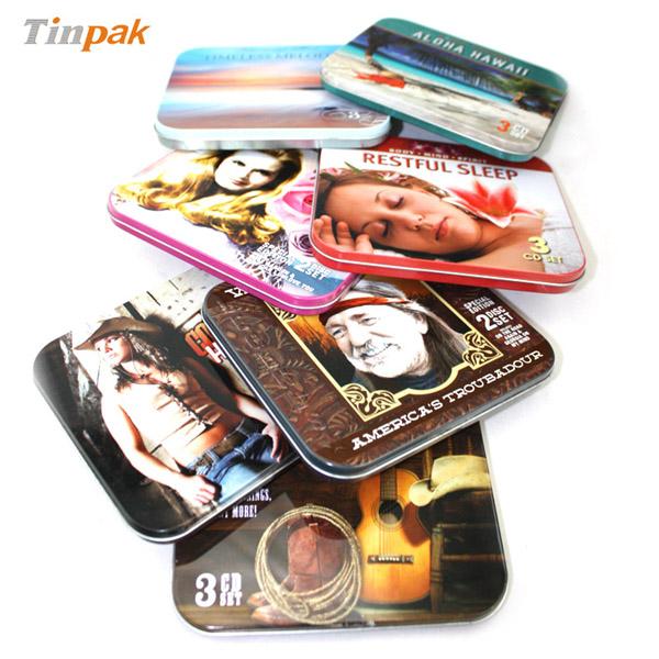 rectangular CD tin cases