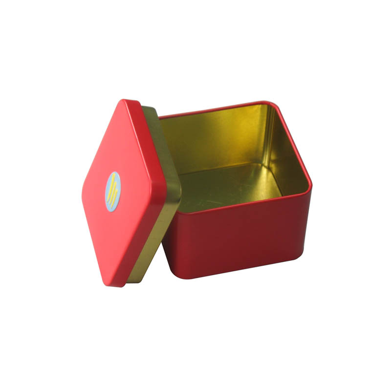 Red Tea container tin box