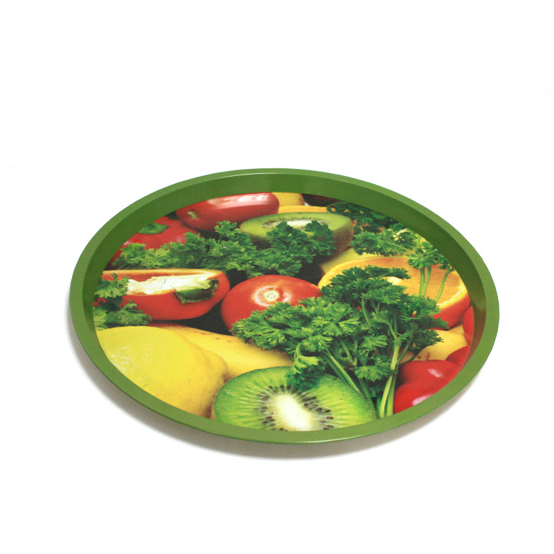 Fruit plate with 0.25mm tinplate and color printing