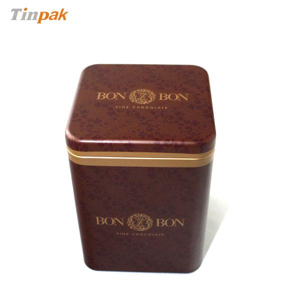 pillow lid tea tin contanier