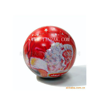 spherical gift tin box