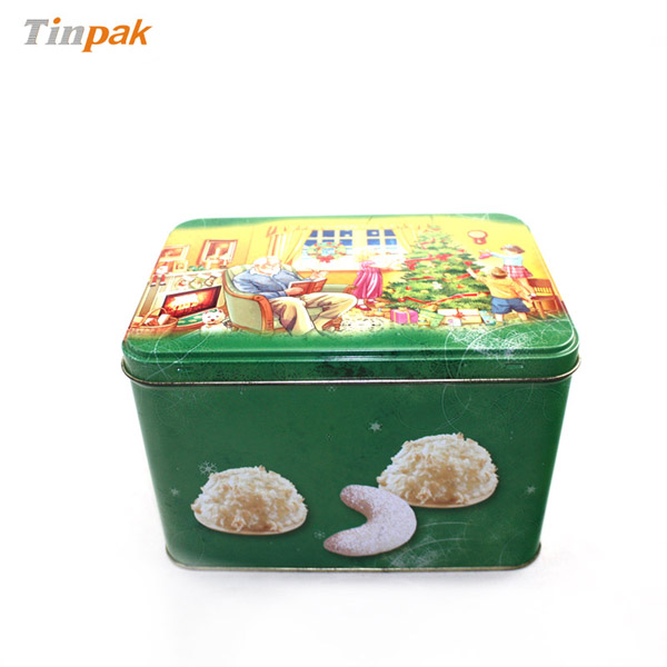 customized rectangular cookie tin boxes