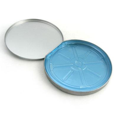 hinged top CD tin case