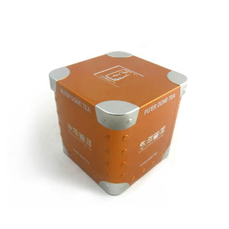 Embossed Square Tea Tin