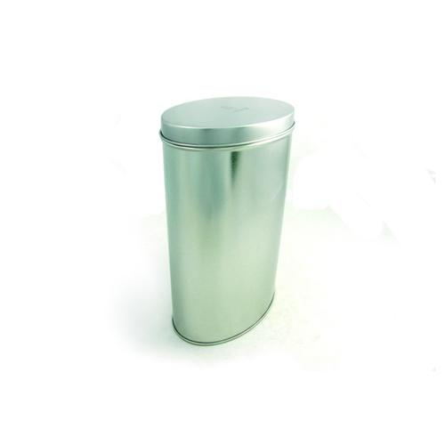 silver plain oval tin can
