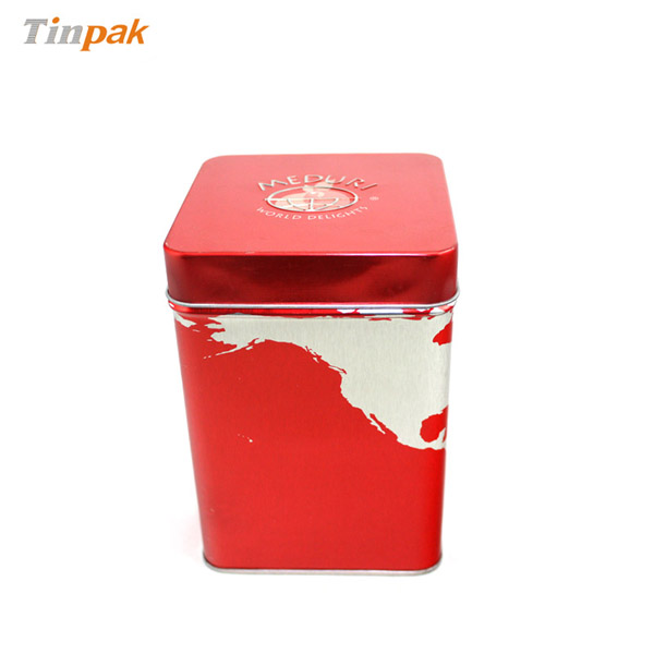 square custom printed dried organic fruits tin boxes