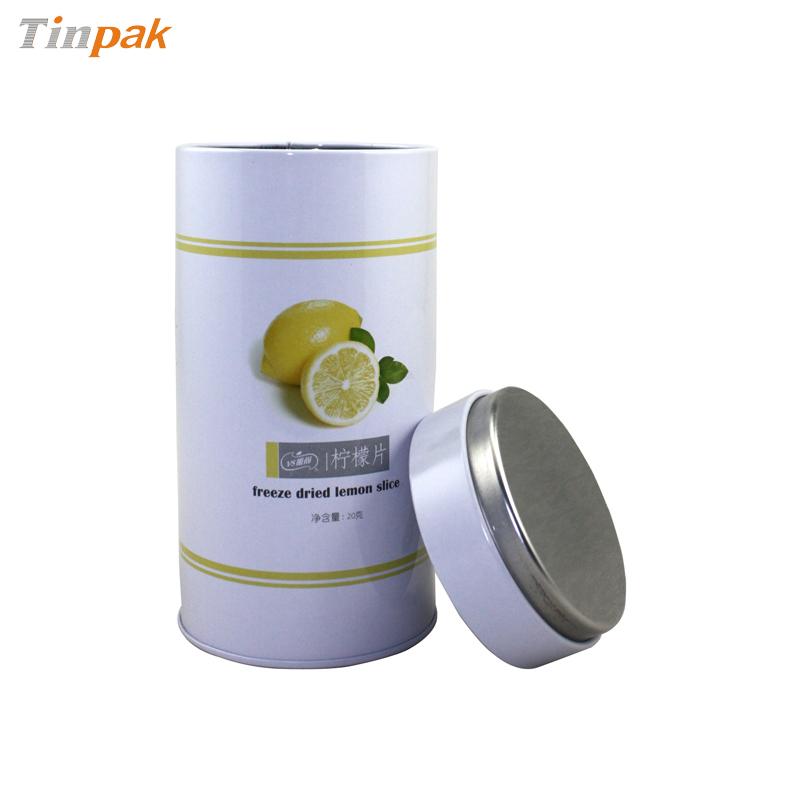 Cylindrical Tea Tin