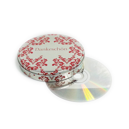 custom printed CD tin container with step lid