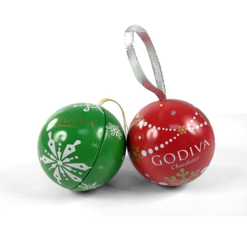 Christmas ball candy tin manufacturer