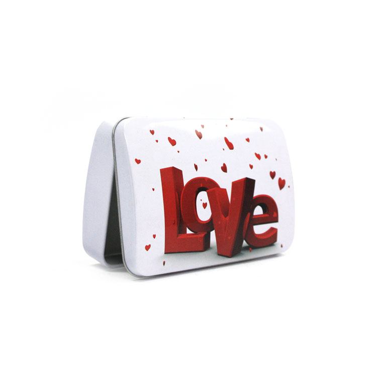 hinged chocolate tin for Valentine's Day