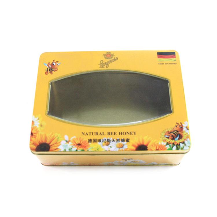 rectangular window tin box