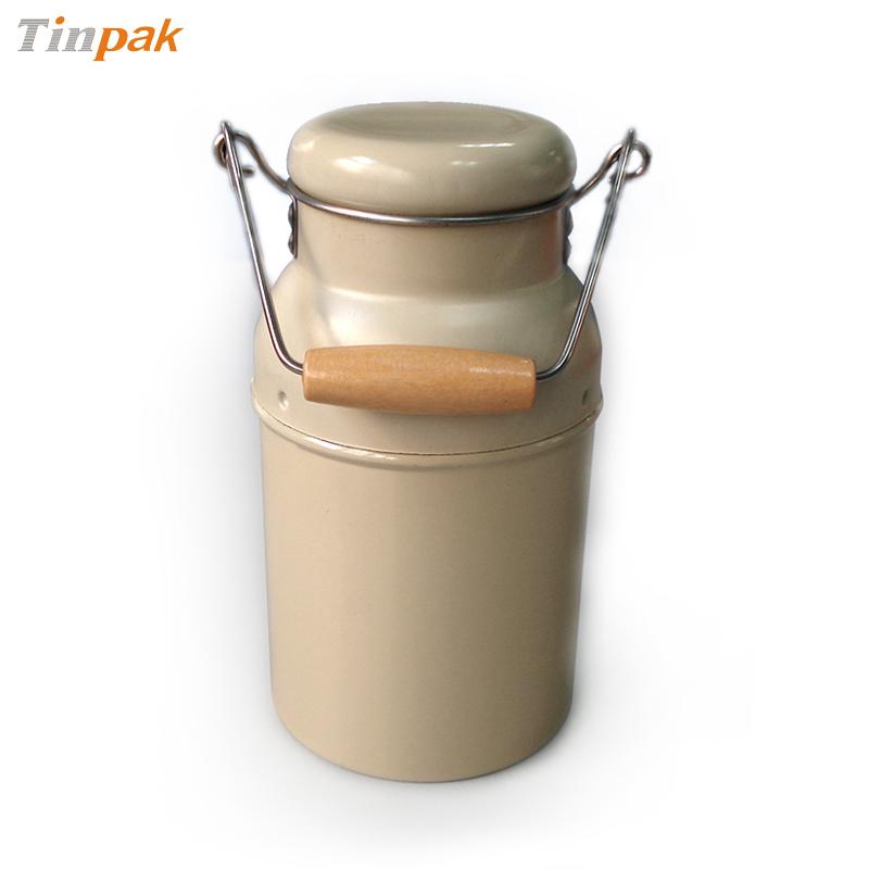 antique tin milk containers