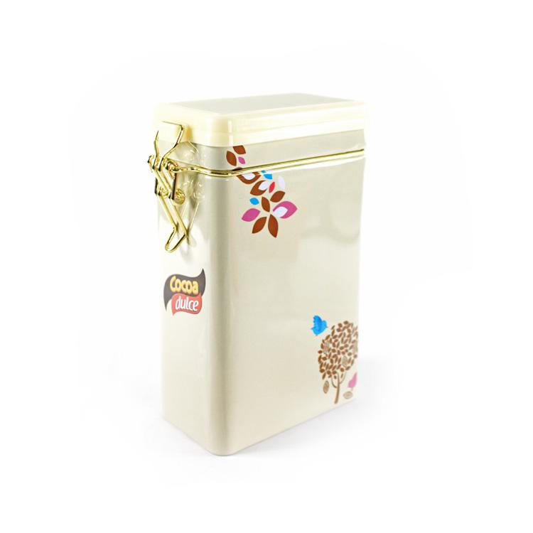 Rectangular Airtight Coffee Tin Box