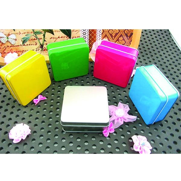 small square tin box for soap