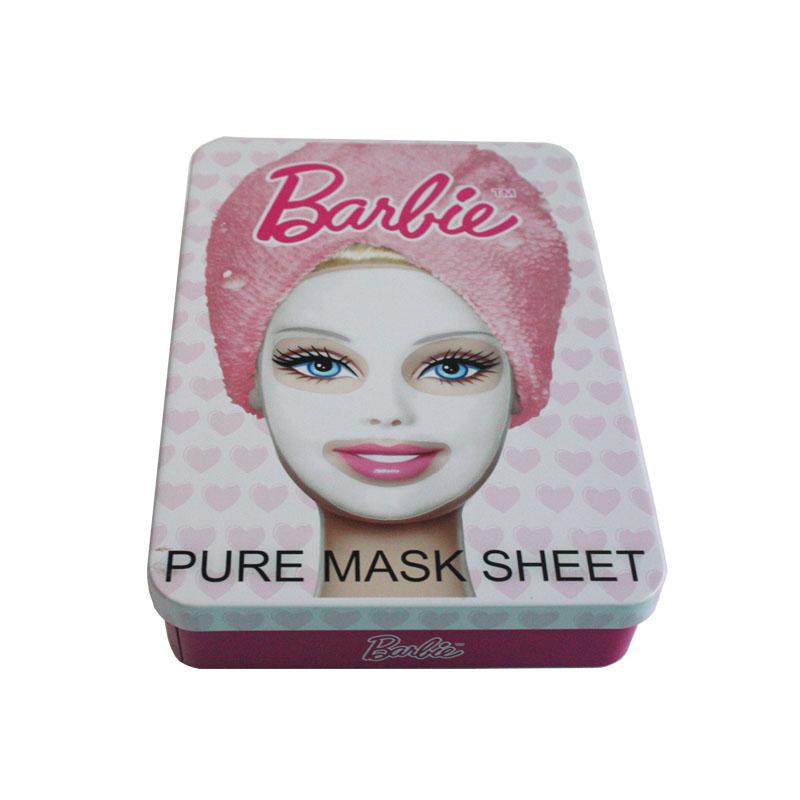 fashion rectangle cosmetic tin