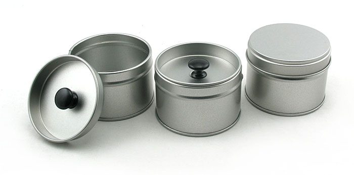 Round Plain Stackable Tea Tin