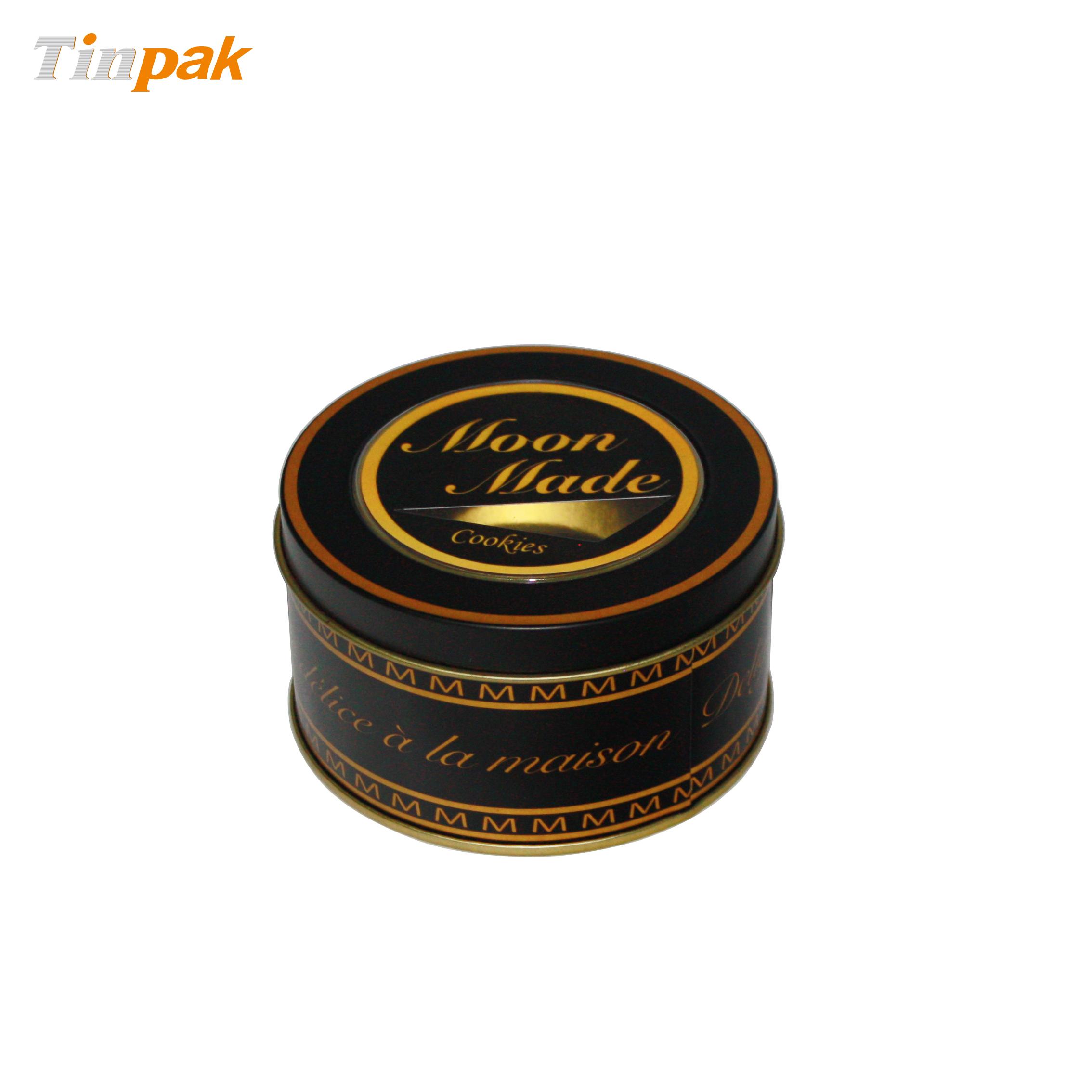 Round cookie metal tins wholesaler