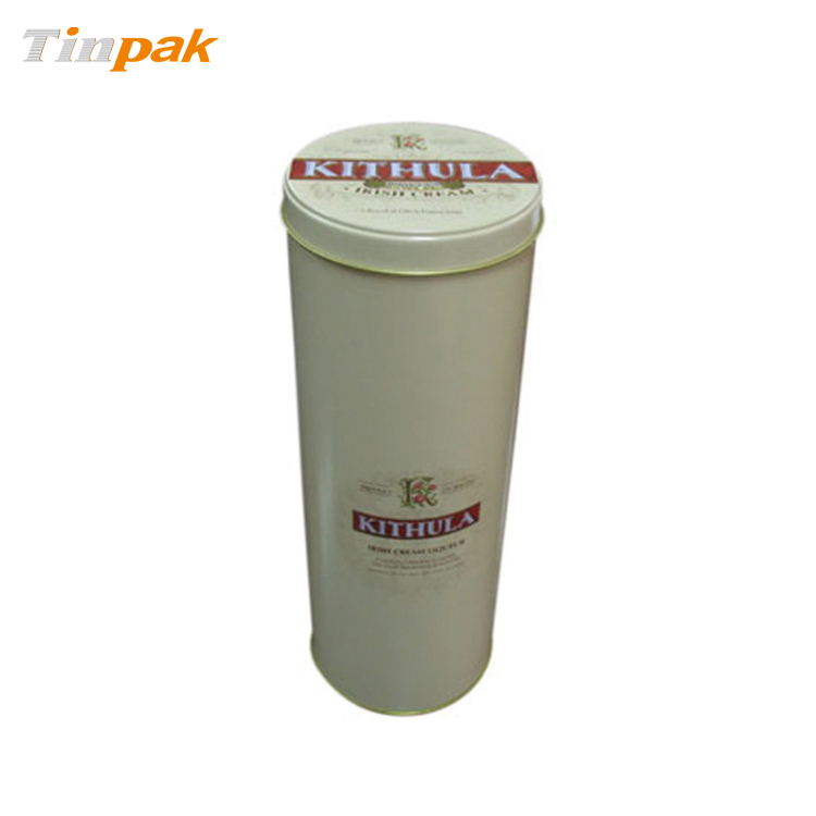 Wholesale Premium round wine tin with step for lid