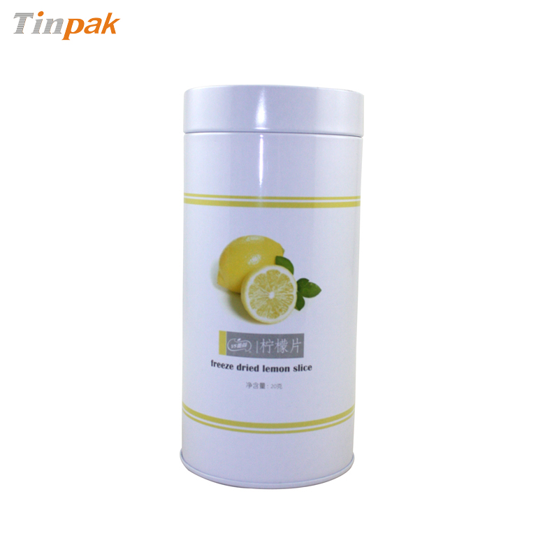 Round Airtight Tea Tin Container