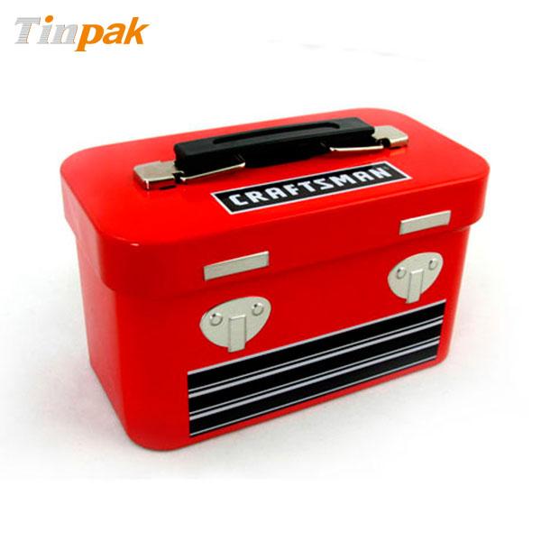 Food tin box with handle