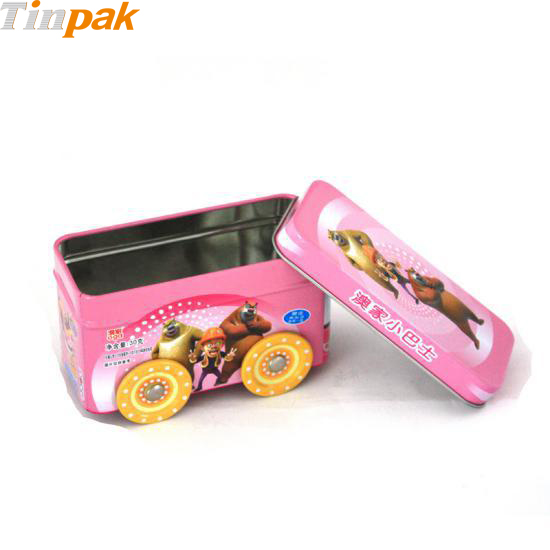 Car Shaped Candy Tin with Moving Wheels