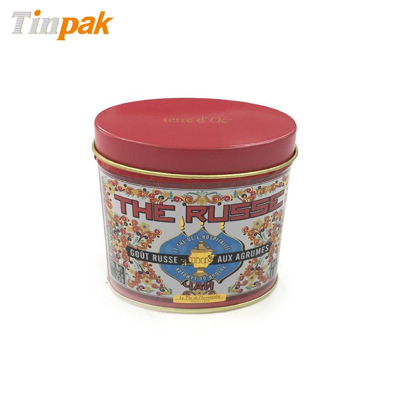Vintage mini oval spice tin