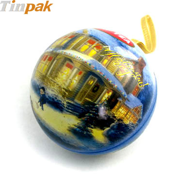 Wholesale Small Ball Shaped Tin Box for Sale